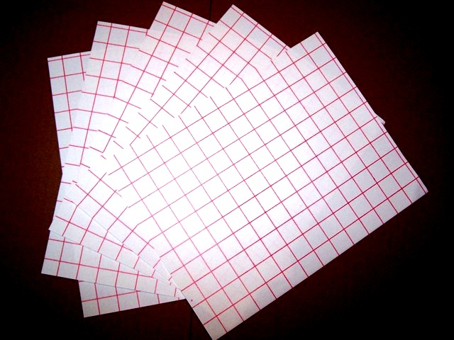 inkjet lite red grid heat transfer paper sheets 8 5 x 11 5 sheets. Black Bedroom Furniture Sets. Home Design Ideas