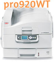 The OKI ProColor pro920WT  White Toner Laser Transfer Printer